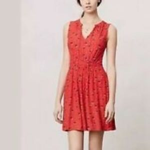 Anthropologie Dresses - Anthropologie Leifnotes | red ship + anchor dress